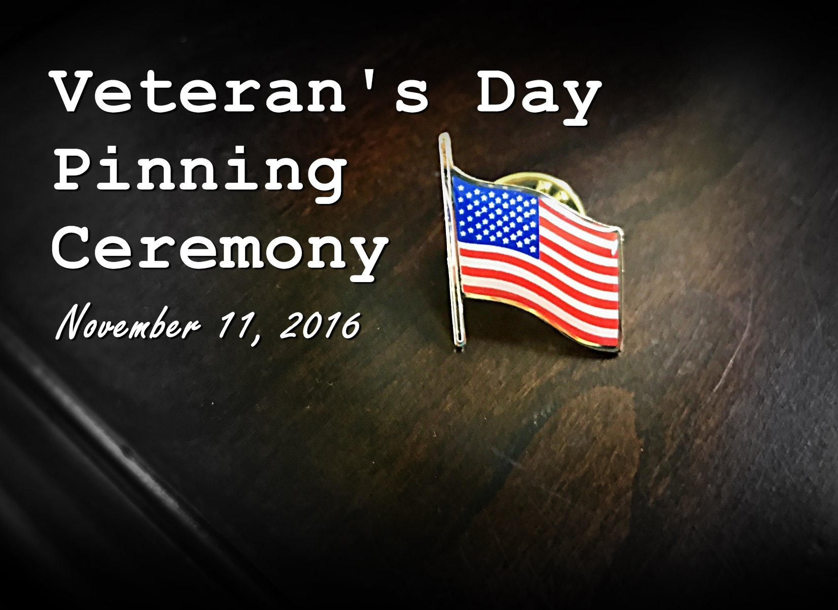 Veterans Day Pinning Ceremony 2016
